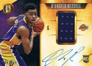 2015-16 PANINI GOLD STANDARD Rookie Jersey Autographs D'Angelo Russell 【199枚限定】 ミント渋谷店 きたさん様