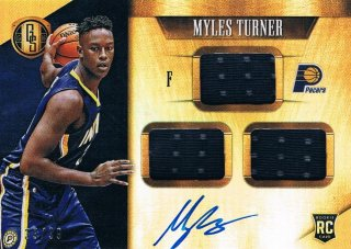 2015-16 PANINI GOLD STANDARD Rookie Jersey Autographs Triple Myles Turner 【99枚限定】 ミント渋谷店 きたさん様
