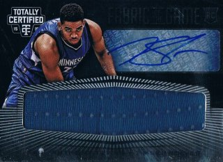 2015-16 PANINI TOTALLY CERTIFIED Rookie Jersey Sig Karl-Anthony Towns 【49枚限定】 ミント渋谷店 CP3様