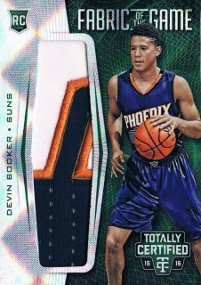2015-16 PANINI TOTALLY CERTIFIED Fabric of the Game Rookie Jersey Green D.Booker 【5枚限定】 ミント渋谷店 CP3様