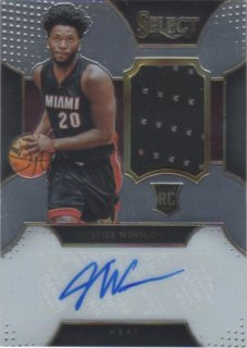 15-16 Panini Select Rookie Autographed Materials Justise Winslow【125枚限定】 ミント横浜店 パスタ様
