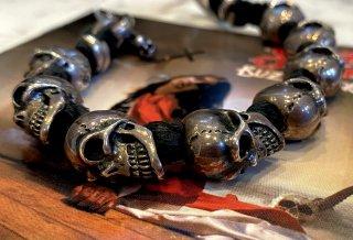 8Skulls braid leather bracelet [B-190]