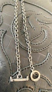 3.9Chain & 1/16 T-bar Necklace [N-110] Skull-T Bar 45cm