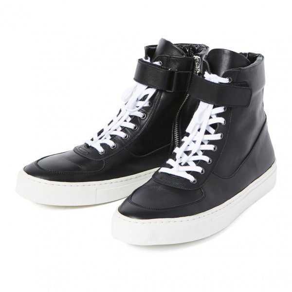 LEATHER ZIP SNEAKER