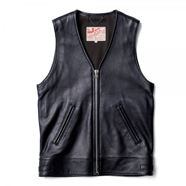 SHEEPSKIN V-NECK RIDERS VEST