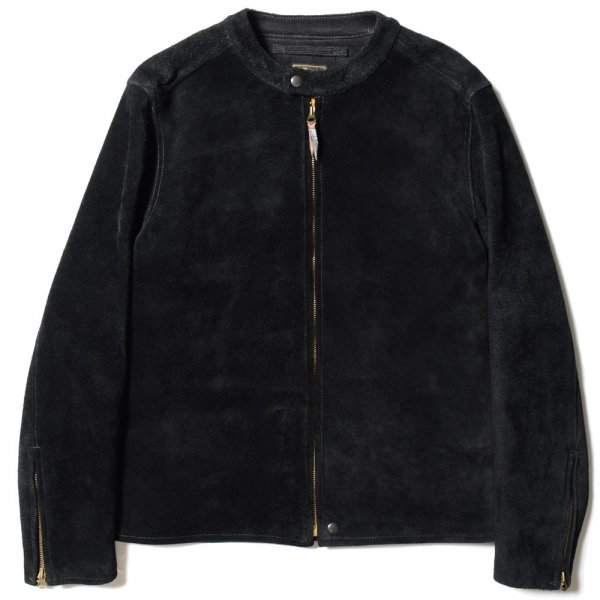 BAND COLLAR SUEDE JACKET