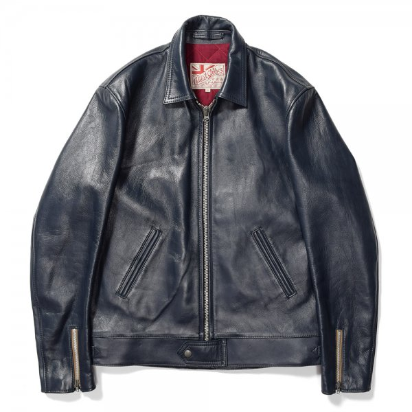 HORSEHIDE CENTER ZIP JACKET
