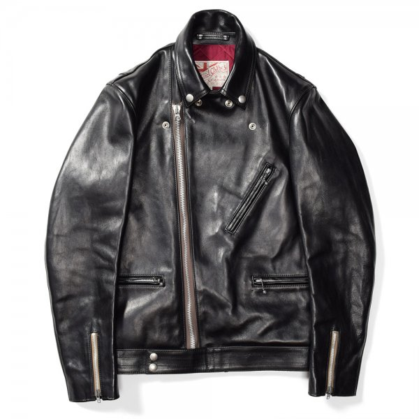 HORSEHIDE BRITISH ASYMMETRY JACKET / LONG