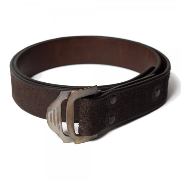 DOUBLE BUCKLE LEATHER BELT -LONG-