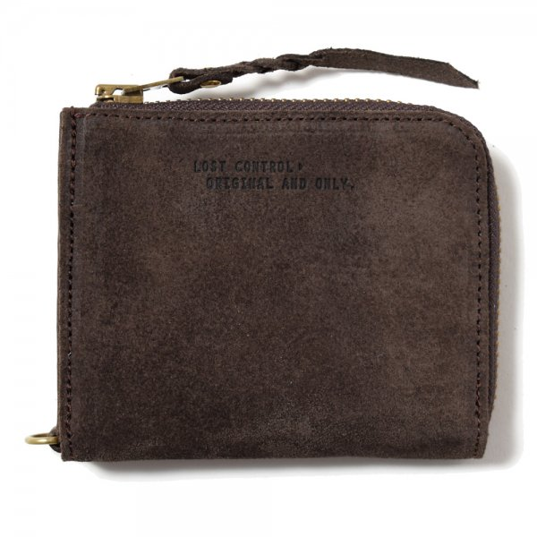 SUEDE ZIP CASE -SHORT-