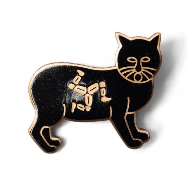 PIN BADGE -MANX CAT-