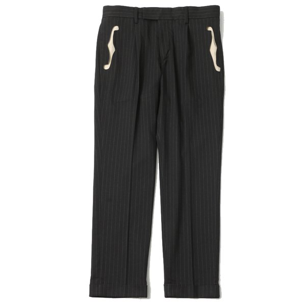 【20AWご予約商品】F HOLE TUCK STRIPE TROUSERS