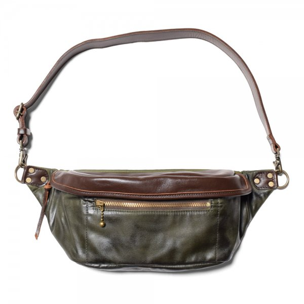 WAXED COTTON WAIST BAG