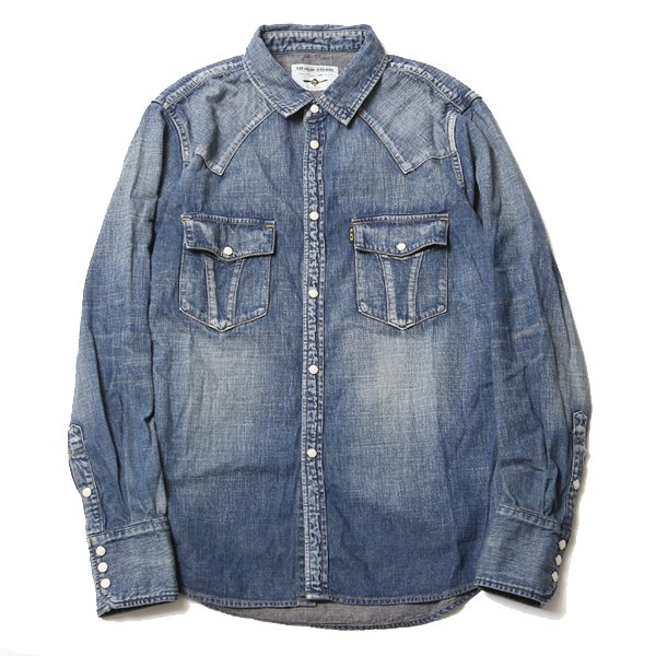 ROAD JACK DENIM SHIRTS<VINTAGE WASH>