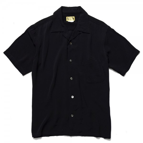 RAYON SLANT POCKET OPEN COLLAR SHIRT