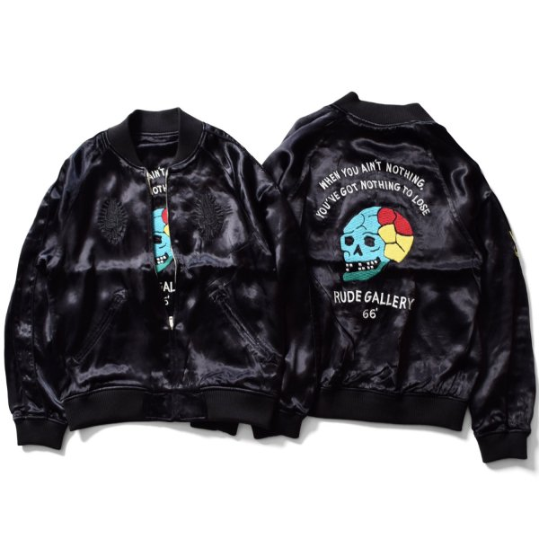 <img class='new_mark_img1' src='https://img.shop-pro.jp/img/new/icons31.gif' style='border:none;display:inline;margin:0px;padding:0px;width:auto;' />OTO SKULL × MEX MARIA REVERSIBLE SOUVENIR JACKET - ROAD LIMITED