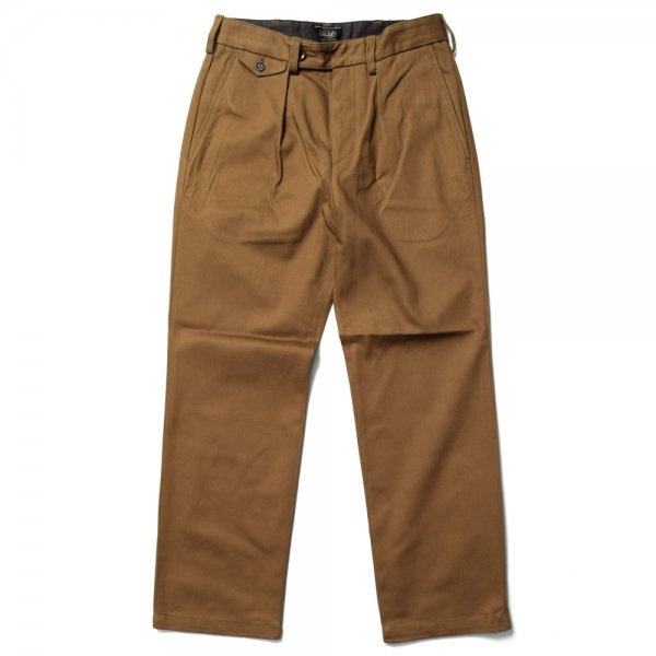 SINGLE-PLEATED COTTON ARMY TROUSERS