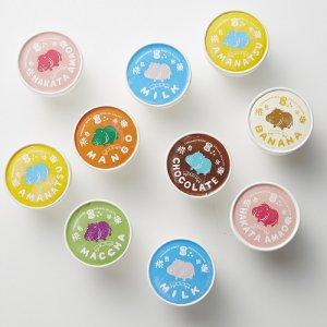 【冷凍】カバ印のジェラートおまかせ10個セット