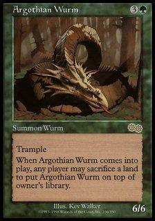 アルゴスのワーム/Argothian Wurm
