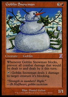 ゴブリンの雪だるま/Goblin Snowman