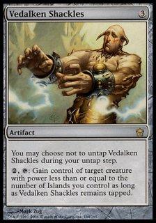 ヴィダルケンの枷/Vedalken Shackles