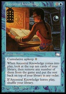祖先の知識/Ancestral Knowledge