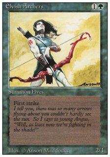 エルフの射手/Elvish Archers
