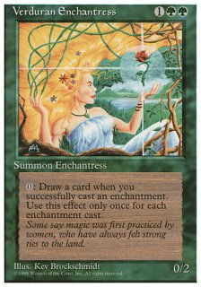 新緑の女魔術師/Verduran Enchantress