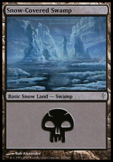 冠雪の沼/Snow-Covered Swamp