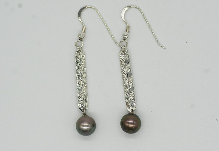 PIERCED EARRINGS -PEARL LONG-