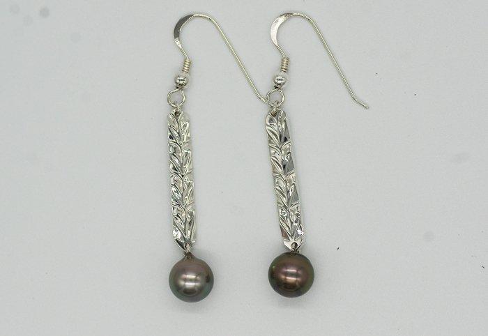 タヒチアンパールピアス[LONG]Silver950