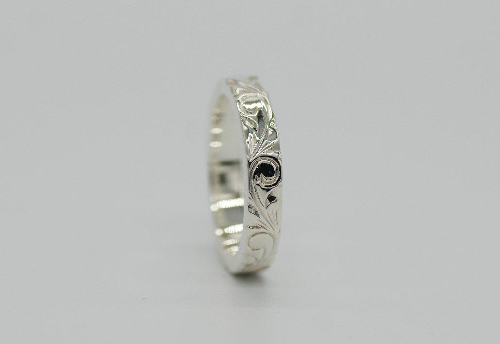 4mm幅 HIRAUCHI RING SV950[AREMITI](婚約指輪/結婚指輪)