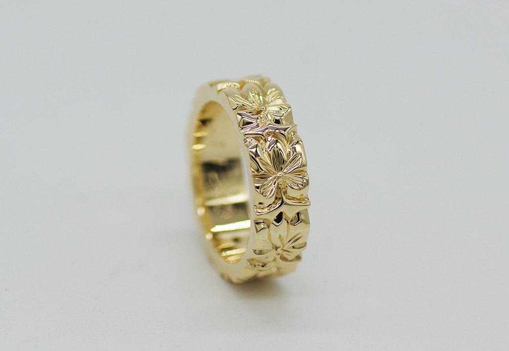 6mm幅 HIRAUCHI RING14KYG [AROHA](婚約指輪/結婚指輪)