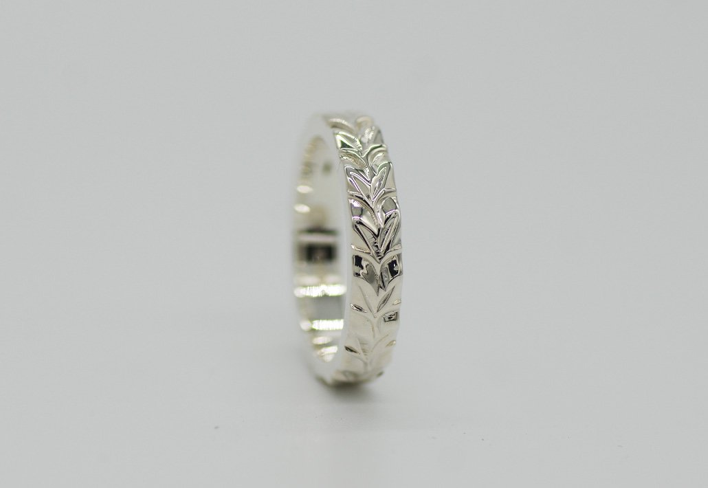 4mm幅 HIRAUCHI RING SV950 [MAILE](婚約指輪/結婚指輪)