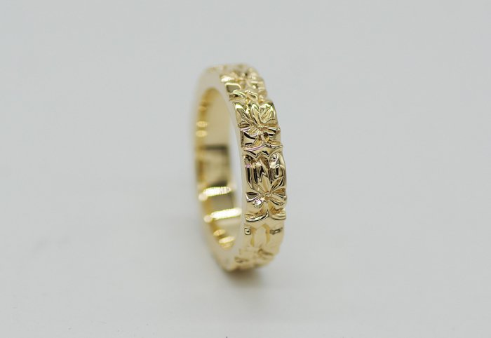 4� HIRAUCHI Ring [AROHA] 14K Yellowgold