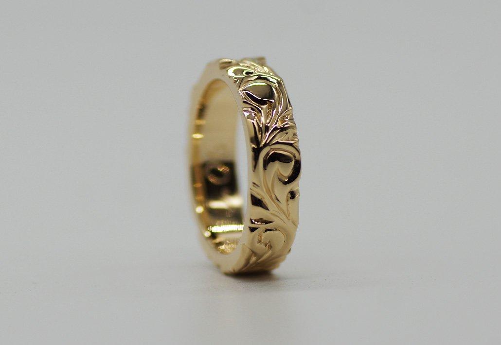 4mm幅 HIRAUCHI RING14KYG [AREMITI](婚約指輪/結婚指輪)