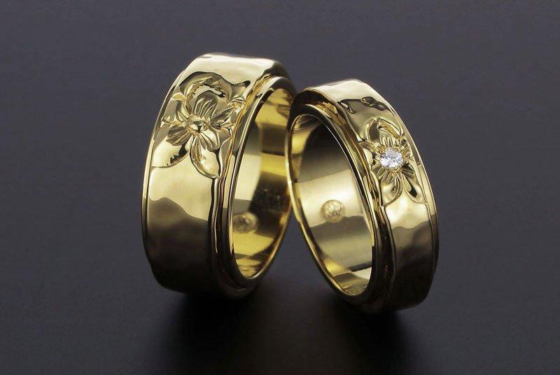 [ペアリング]COMBI2重 8mm/6mm 14KYG [TATAU] (婚約/結婚指輪)