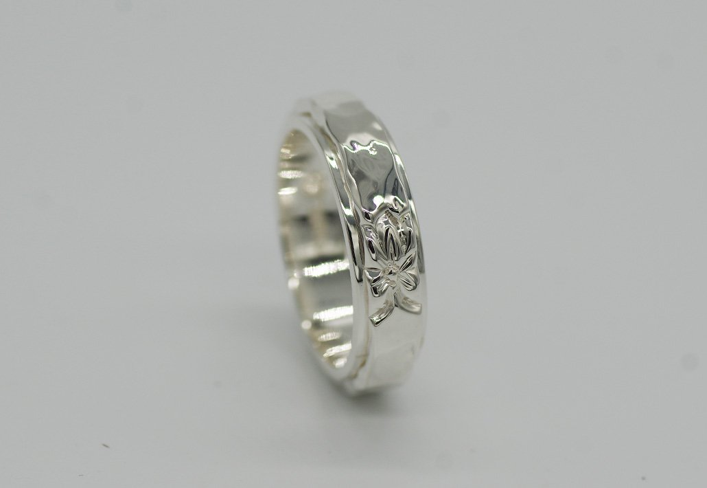 6mm幅 COMBI2重リング SV950 [TATAU](婚約/結婚指輪)