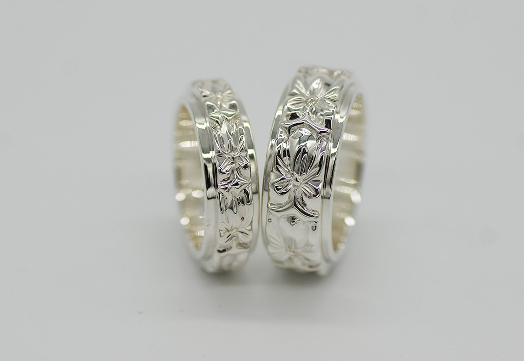[ペアリング]COMBI2重 8mm/6mm SV950 [AROHA] (婚約/結婚指輪)