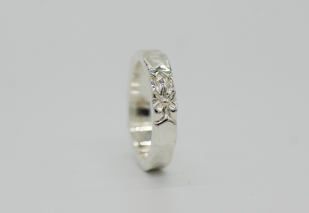 4mm幅 HIRAUCHI RING SV950 [TATAU](婚約指輪/結婚指輪)
