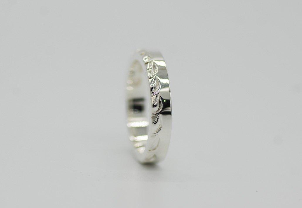 4mm幅 HIRAUCHI RING SV950 [HAPAMAILE](婚約指輪/結婚指輪)