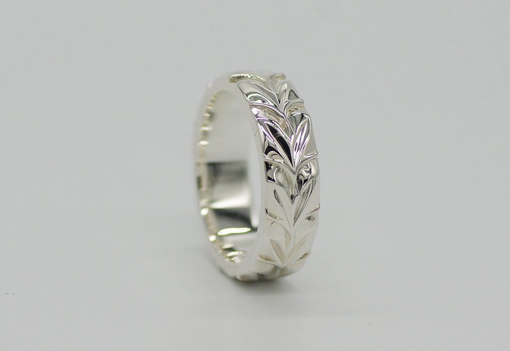 6mm幅 HIRAUCHI RING SV950 [MAILE](婚約指輪/結婚指輪)