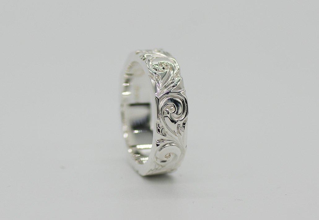 6mm幅 HIRAUCHI RING SV950[AREMITI](婚約指輪/結婚指輪)