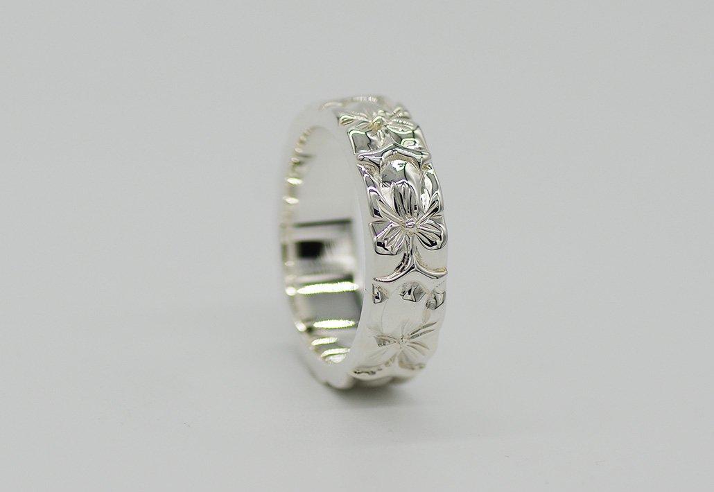 6mm幅 HIRAUCHI RING SV950 [AROHA](婚約指輪/結婚指輪)