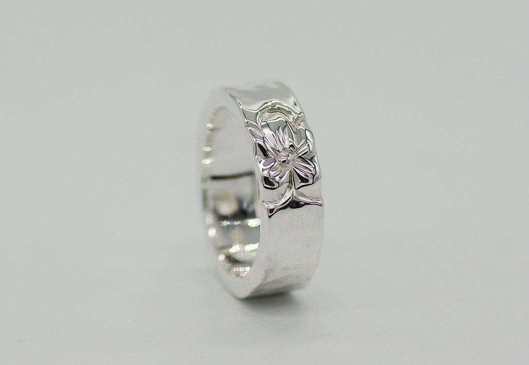 6mm幅 HIRAUCHI RING SV950 [TATAU](婚約指輪/結婚指輪)