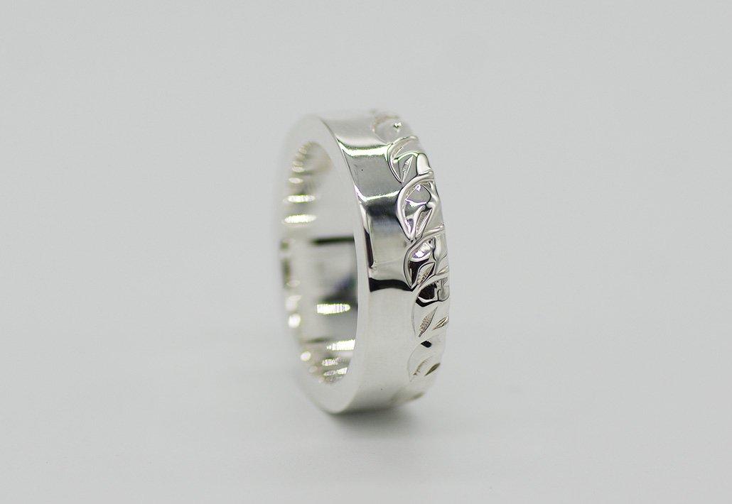 6mm幅 HIRAUCHI RING SV950 [HAPAMAILE](婚約指輪/結婚指輪)