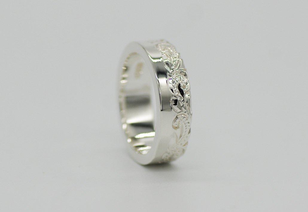 6mm幅 HIRAUCHI RING SV950 [HAPASCROLL](婚約指輪/結婚指輪)