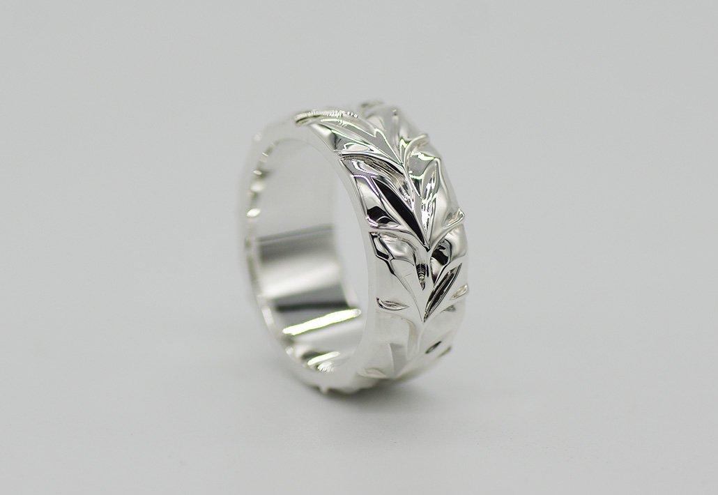 8mm幅 HIRAUCHI RING SV950 [MAILE](婚約指輪/結婚指輪)