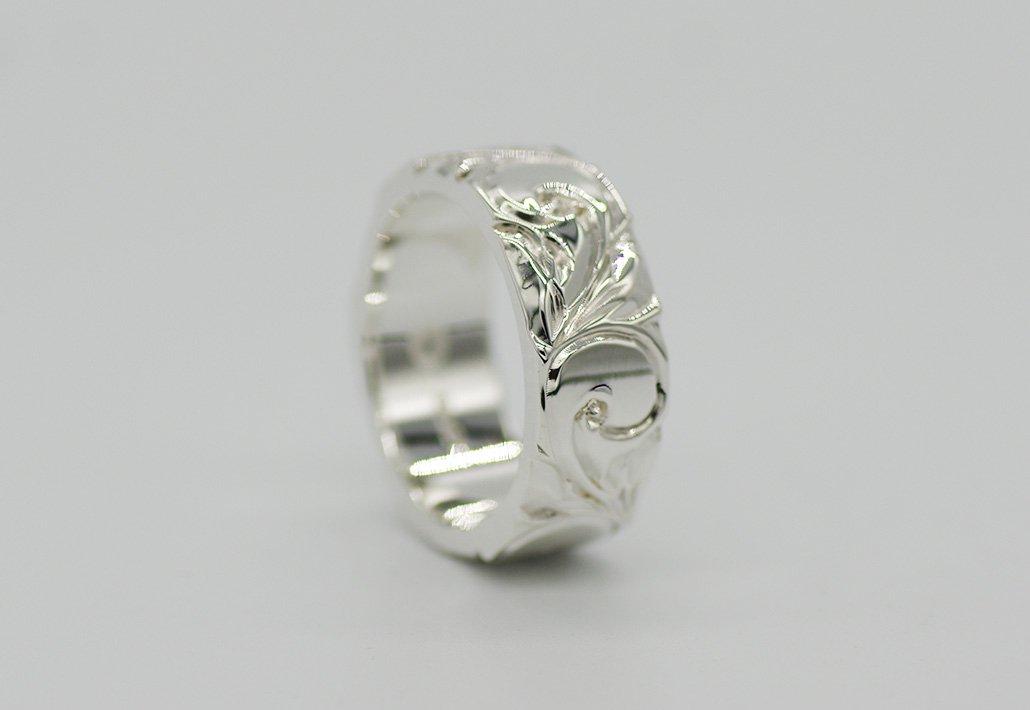 8mm幅 HIRAUCHI RING SV950 [AREMITI](婚約指輪/結婚指輪)