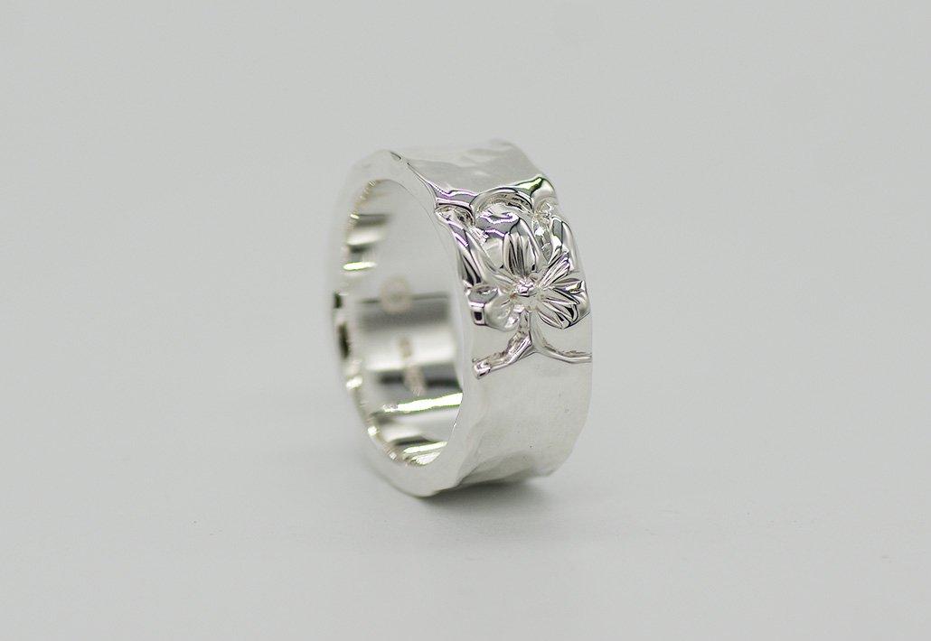 8mm幅 HIRAUCHI RING SV950 [TATAU](婚約指輪/結婚指輪)